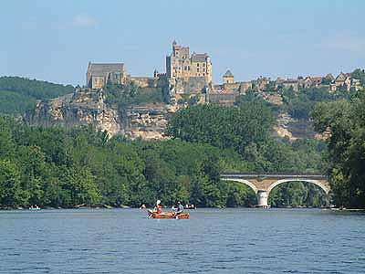 Canoeing on the Dordogne in France