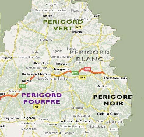 map of the dordogne